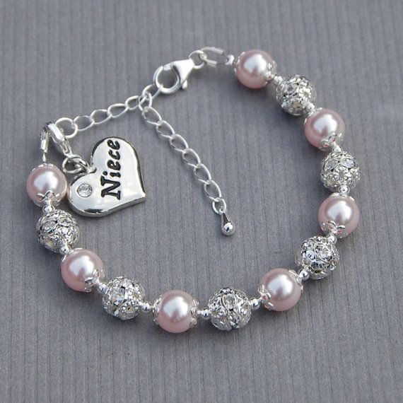 Gift For Niece Charm Bracelet Jewelry Pick Your Own Color From Aunt Under 25 Family