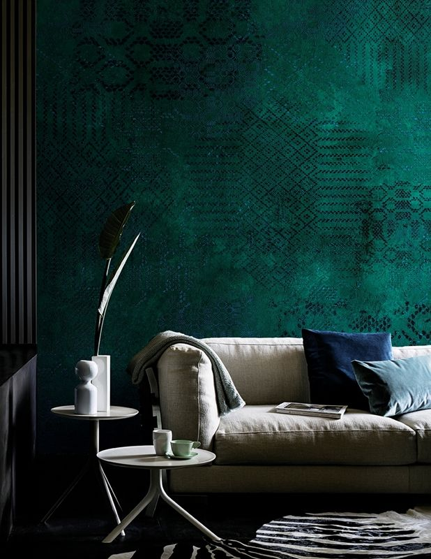 Ecco quali sono le tendenze più di moda per decorare il vostro salotto con la carta da parati. Luviento Carta Da Parati Verde Carta Da Parati Salotto Chic