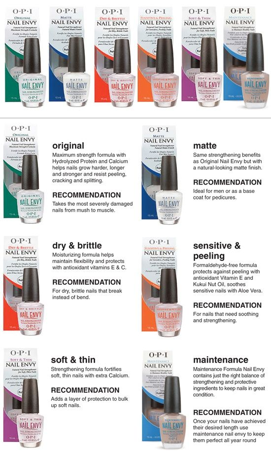 Different OPI Nail Envy Formulas. I have sensitive and peeling, and ...