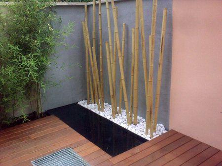 Jardin seco bamb jard n interno jardin piedras for Decoracion con piedras en interiores