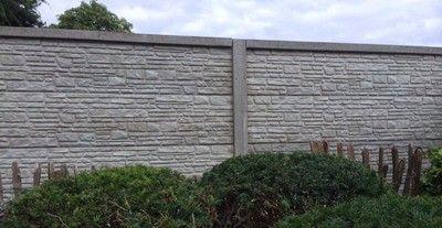 Betonzaun Hornbach betonzaun mountain grau 200x193cm gartenideen