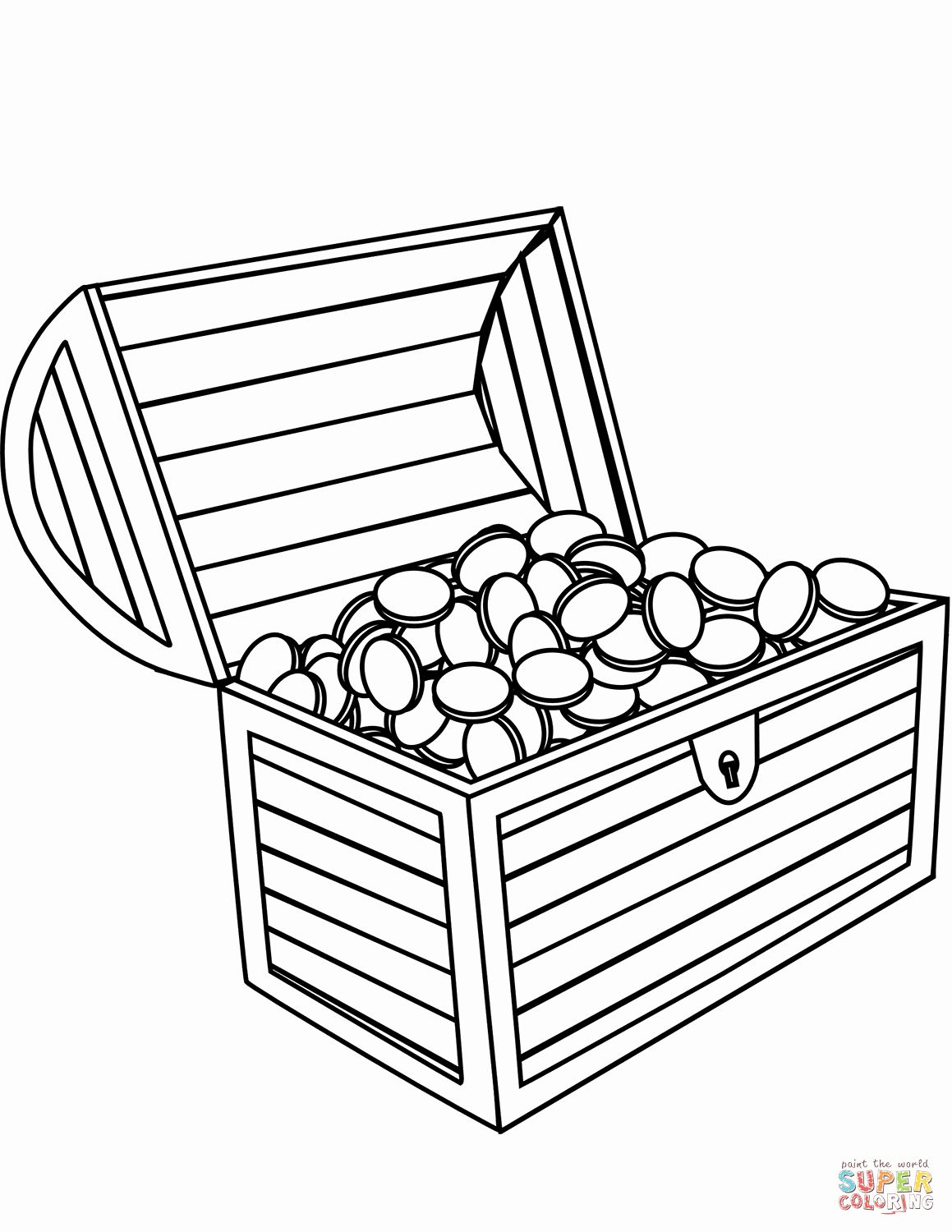 32 Treasure Chest Coloring Page