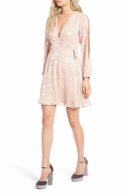 ASTR Burnout Wrap Dress