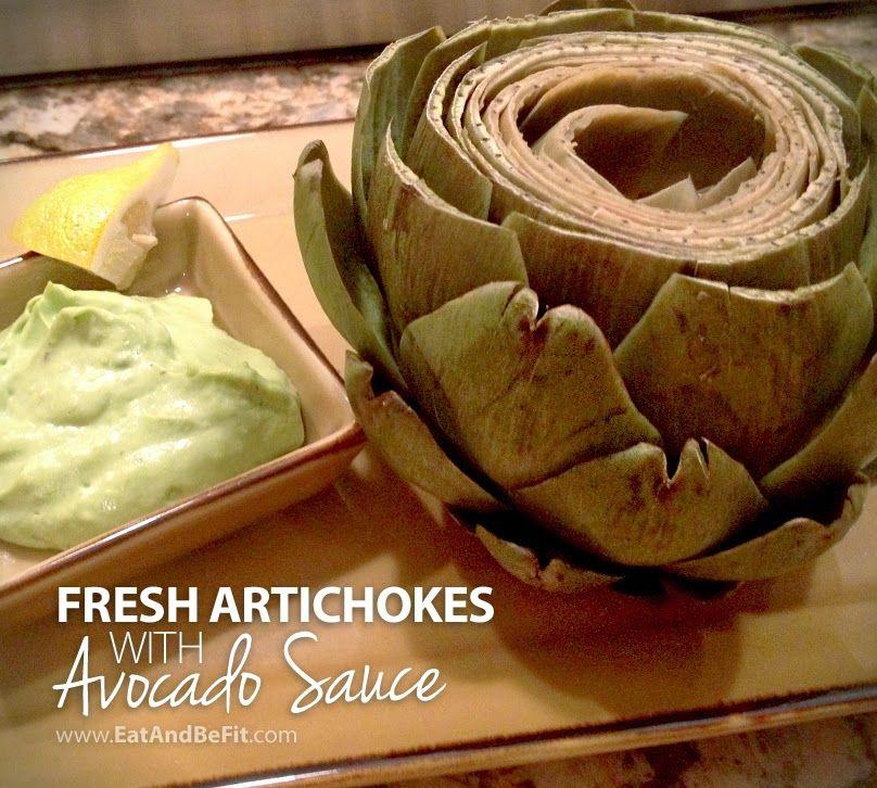 Fresh Artichokes with Avocado Sauce