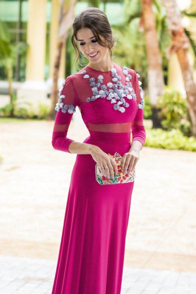 invitada boda fernando claro costura vestido noche | Invitadas ...