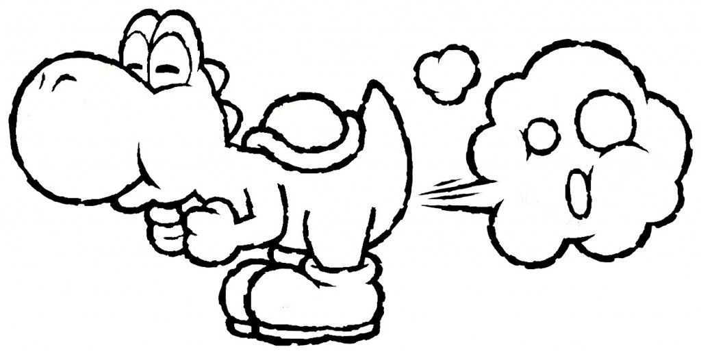 Free Printable Yoshi Coloring Pages For Kids Mario Coloring