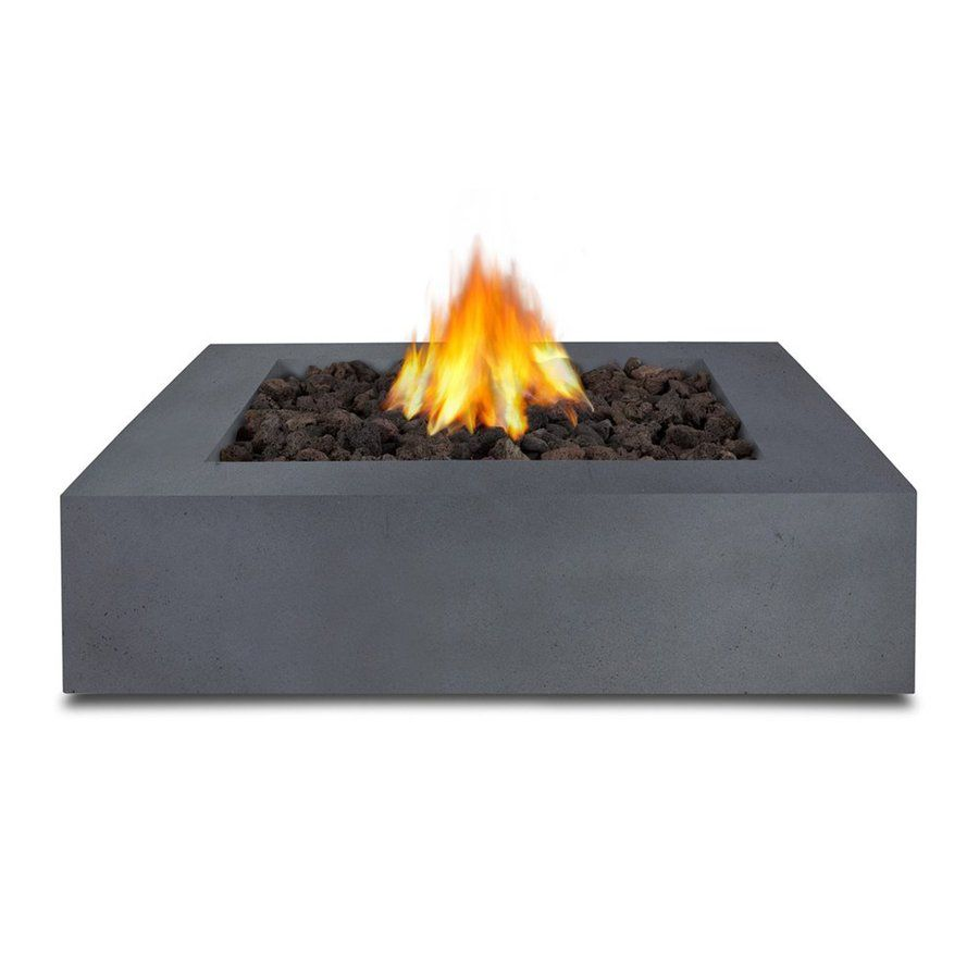 Real Flame 42 25 In W 65000 Btu Flint Gray Concrete Liquid Propane Fire Pit Propane Fire Pit Fire Table Real Flame