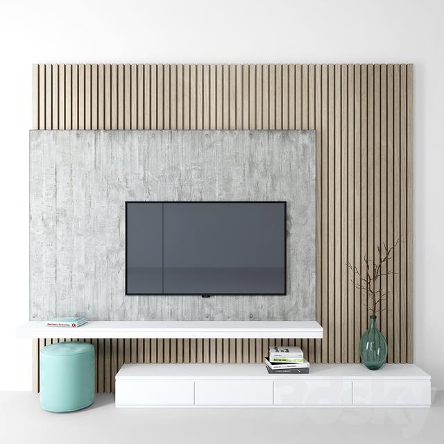 3d Models Tv Wall Tv Wall Set 08 Bedroom Tv Wall Wall Tv Unit Design Modern Tv Wall Units