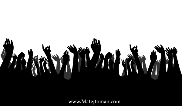 Crowd Hands Up Free Vector Silhouettes | Free Hands Vector Art ...