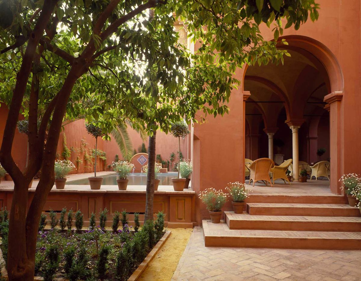 Partial View of the Garden on to the Pool and the Loggia