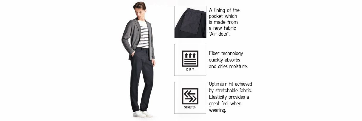 Stretch Slim Fit Flat Front Pants