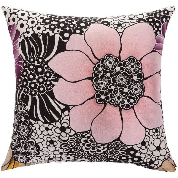 Missoni Home Sulawesi Cushion - 160 - 60x60cm ($455) ❤ liked on Polyvore featuring home, home decor, throw pillows, multi, flower home decor, colorful home decor, flower throw pillows, multi color throw pillows and black and white home decor