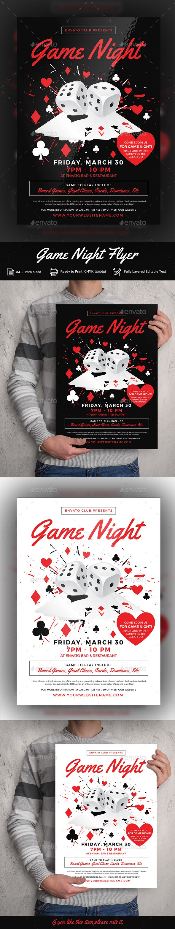 pin by maria alena on flyer pinterest flyer template game night
