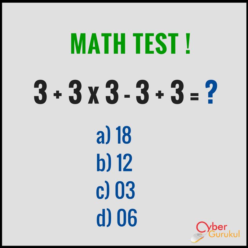 Solve if you are genius!! #CyberGurukul | Math test, Math ...
