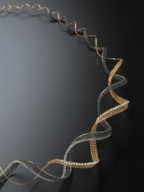 Dna Diamond Neckpiece Crochet Jewellery Pinterest Draht