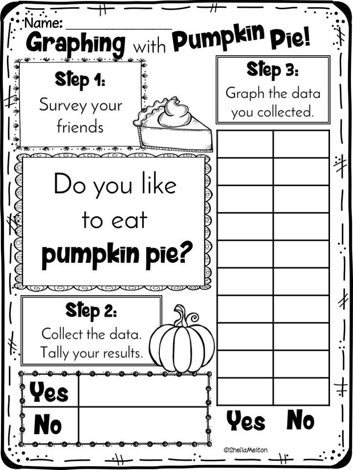 Thanksgiving graphing. Do you like pumpkin pie? Students