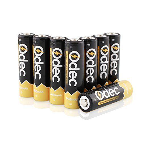 Odec Aa Piles Rechargeables 2450 Mah Accus Hr6 Mignon 1 2v Ni Mh 1200 Cycles De Charge Lot De 8 Pile Rechargeable Piles
