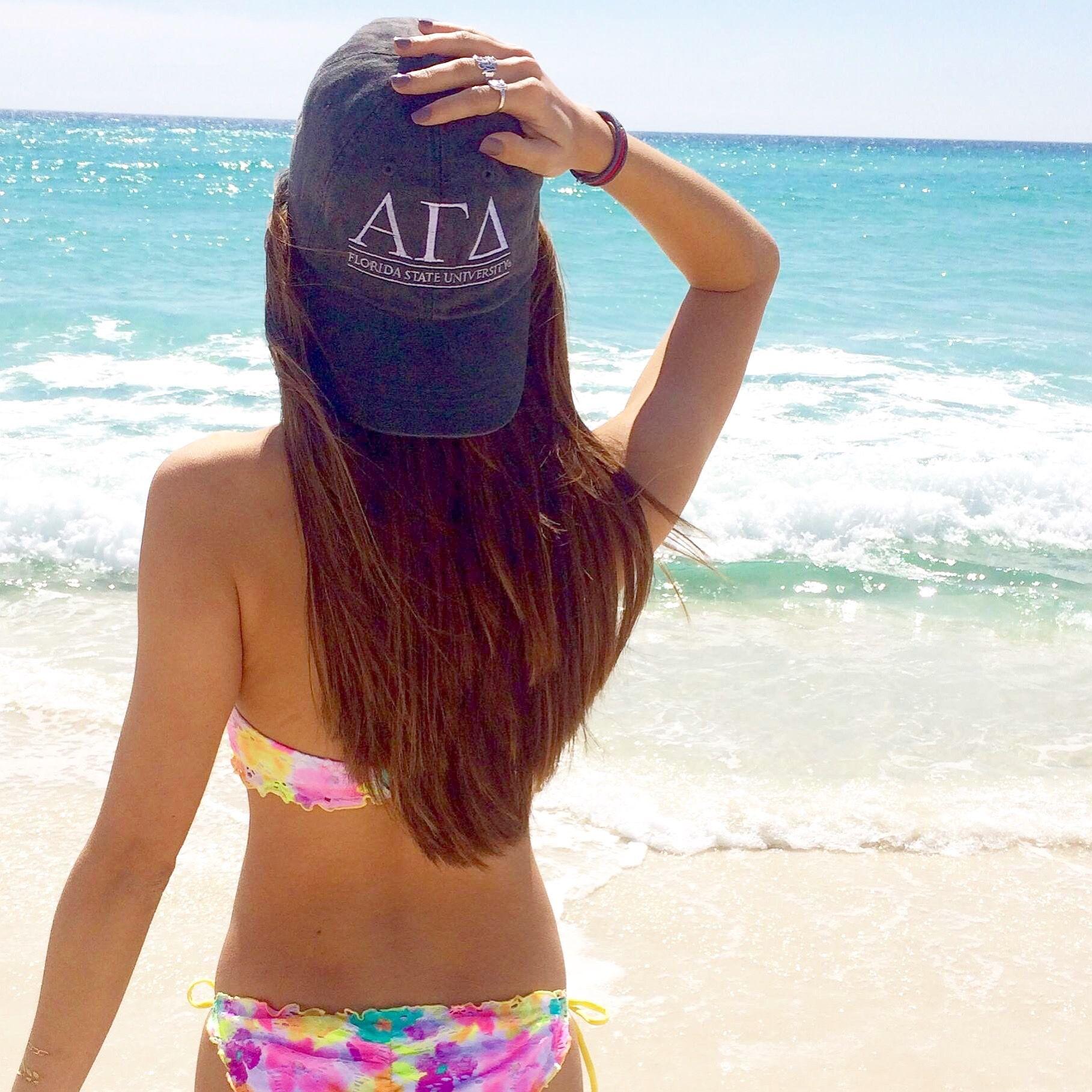 Don't worry, beach happy  Alpha Gamma Delta • www.adamblockdesign.com