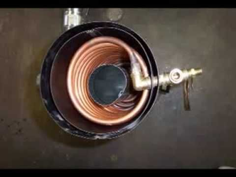 Heating Coil For A Rocket Stove Radiant Heat Boiler