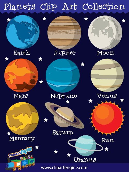 planets clip art collection for personal and commercial use solar rh pinterest com planets clipart black and white planet clipart for kids