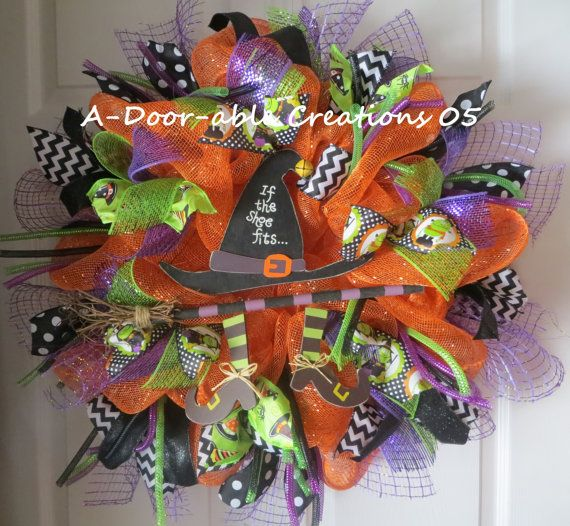 FREE SHIPPINGHalloween Wreath If the by ADoorableCreations05
