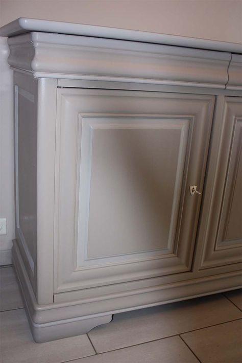 enfilade relookée détail home Pinterest Buffet, Furniture - comment patiner un meuble en merisier