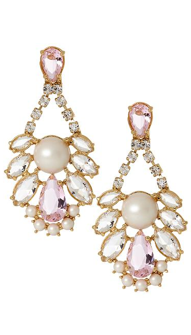 Sparkly chandeliers by Kate Spade new york