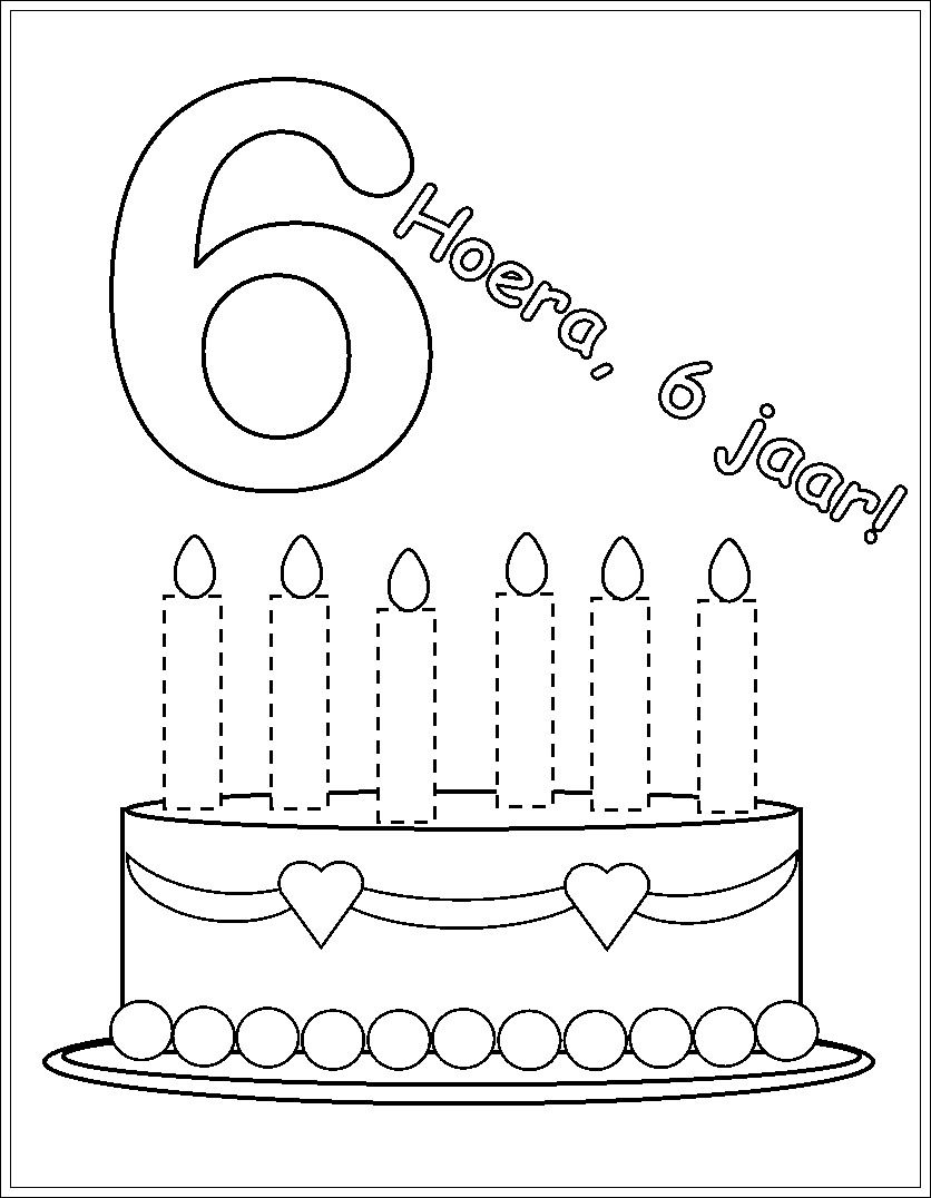 Kleurplaat Verjaardag Fotolijst 6 Verjaardag Verjaardagskalender Verjaardagsideeen