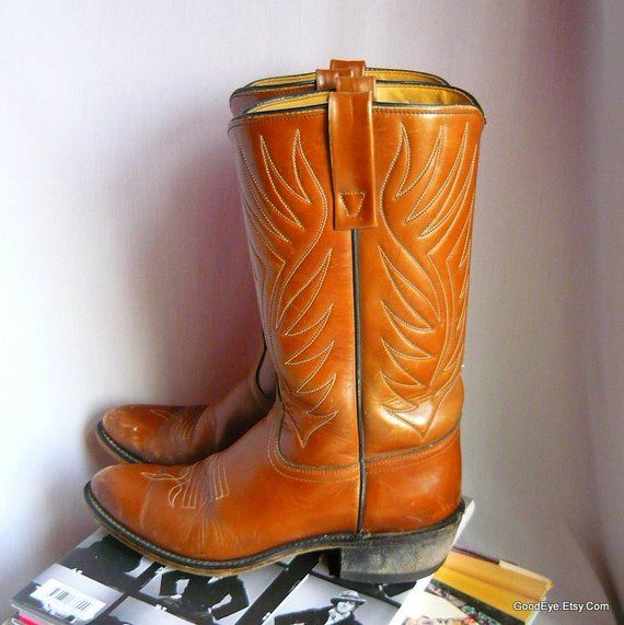 264b0504fdc Ladies size 9 M - Vintage ACME Leather Cowboy Boots / sz Eu 40 UK 6 ...