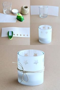 Diy tapes photophore de no l avec papier calque lanterns christmas decorations christmas - Decoration avec papier ...