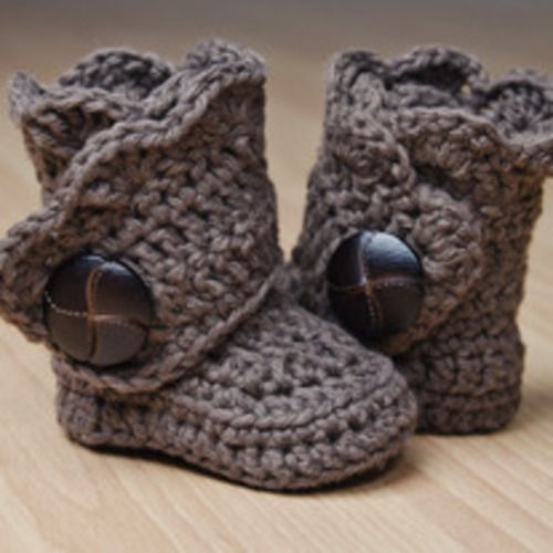 baby boots. love it! | so cute <3 | Pinterest | Häkeln, Stricken und ...