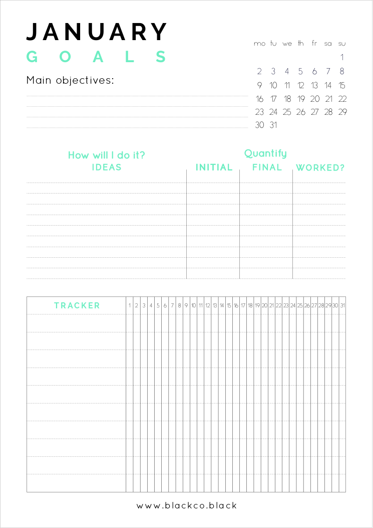 Minimal And Unique Printable Planner Monthly Planner Get Your