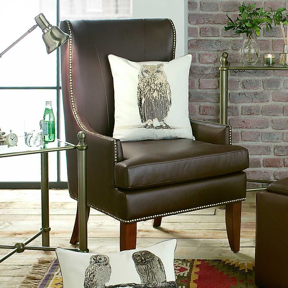 Tall Back Living Room Chairs Home Belfry Brown Faux Leather High Chair