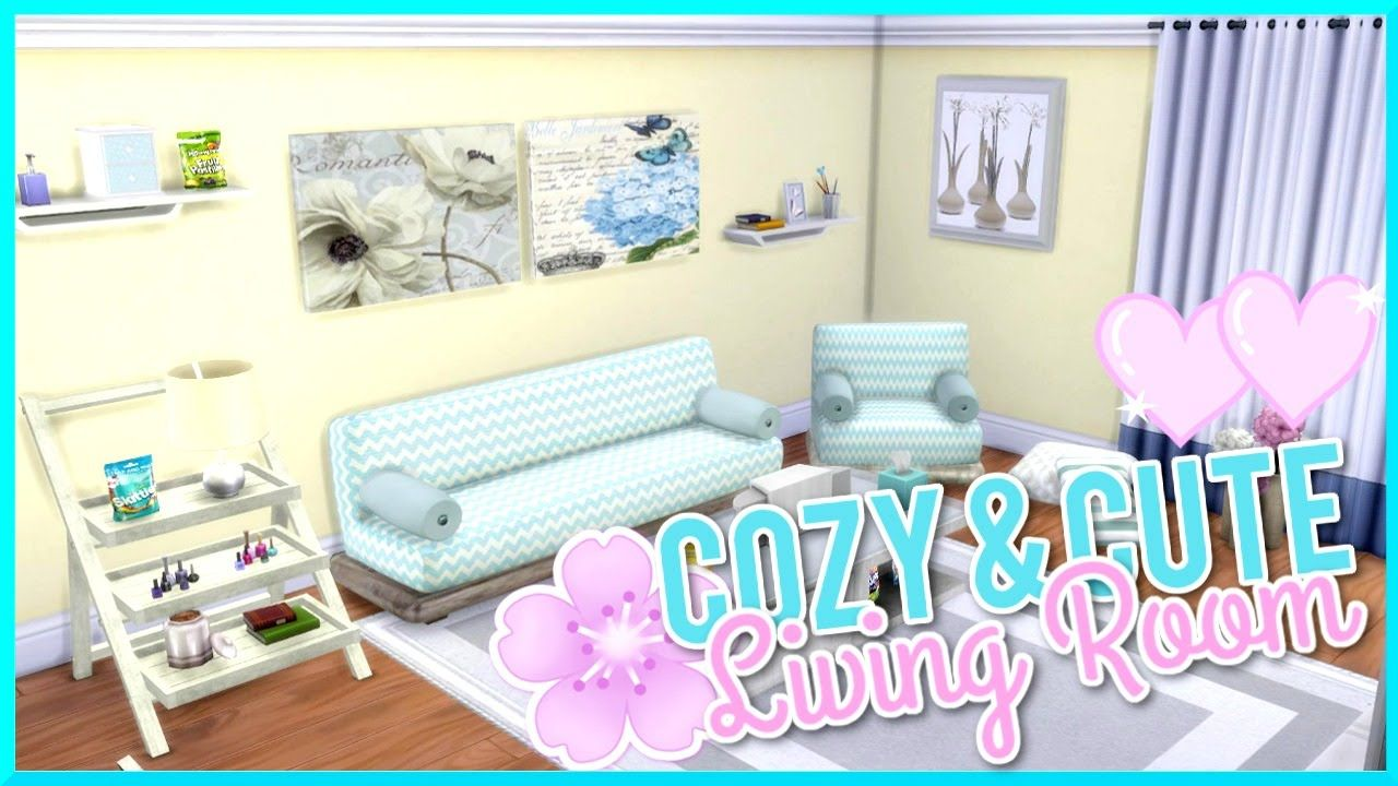The Sims 4 | Cute & Cozy | Custom Content Living Room