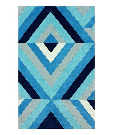 This has quilt pattern potential. Another great find on #zulily! Blue Roxy Rug #zulilyfinds