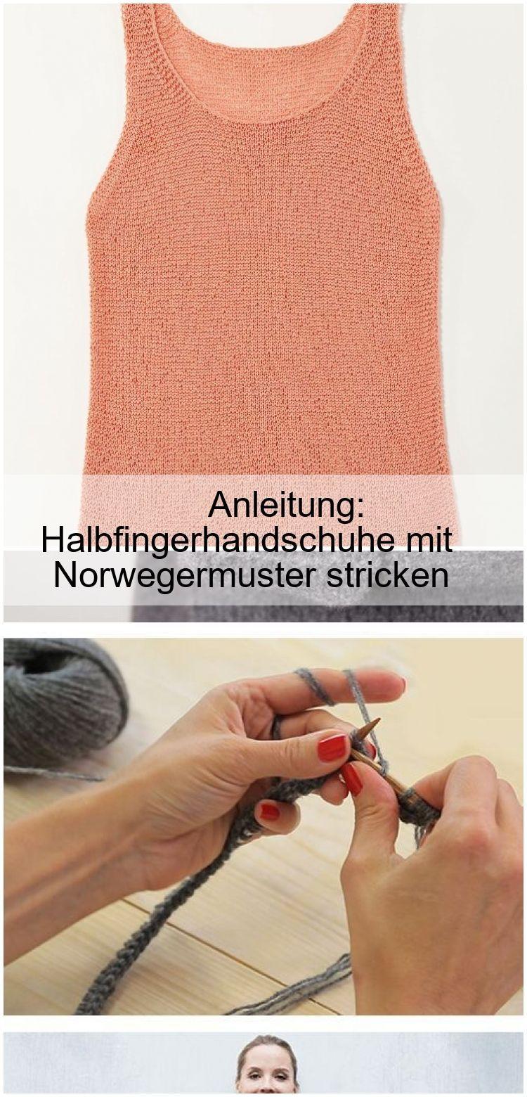 Photo of Anleitung: Halbfingerhandschuhe mit Norwegermuster stricken,  #Anleitung #Halbfingerhandschuh…