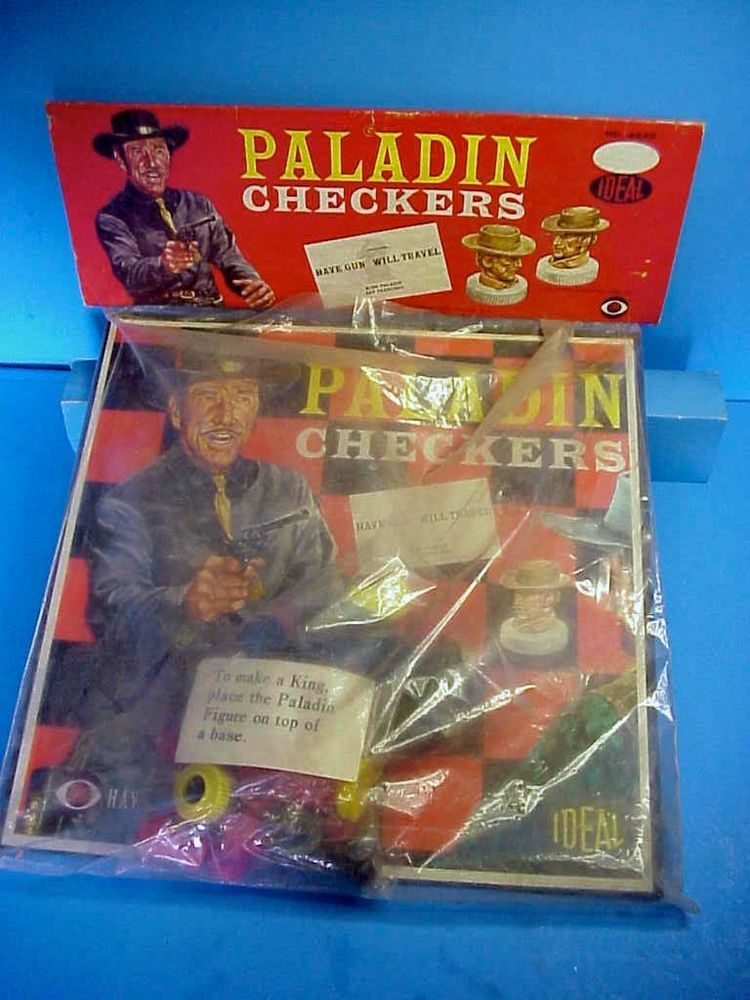 Have Gun Will Travel Paladin 1960 Ideal Checkers Set