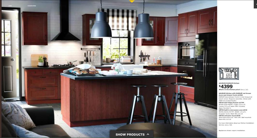 Ikea Kitchen Magazine Akurm W Ramsjo Red Brown Doors