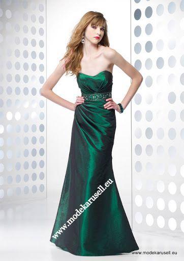 Emerald Grünes Abendkleid Lang www.modekarusell.eu | Abendkleider ...