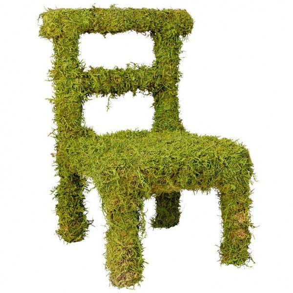 Dekorativer Moosstuhl Von Pflanzen Kölle. Der Vielseitig Zu Dekorierende  Stuhl Aus Echtem Moos überzeugt