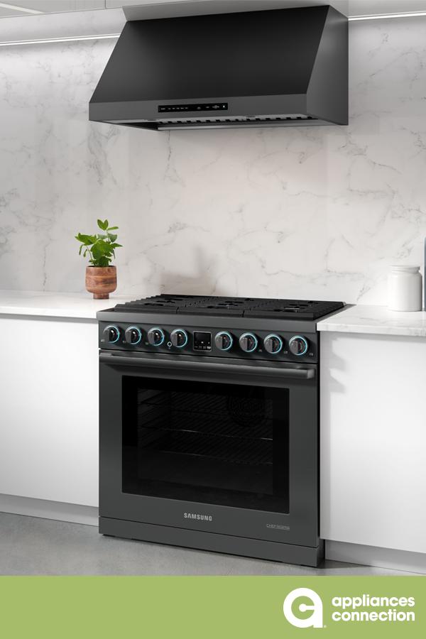 Samsung Nx58k9850sg 30 Inch Black Stainless Steel Slide In Gas Range In Black Stainless Steel Home Appliances Samsung Kitchen Samsung Home