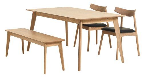 klop kalby sv hrast  jysk  dining table dinning table