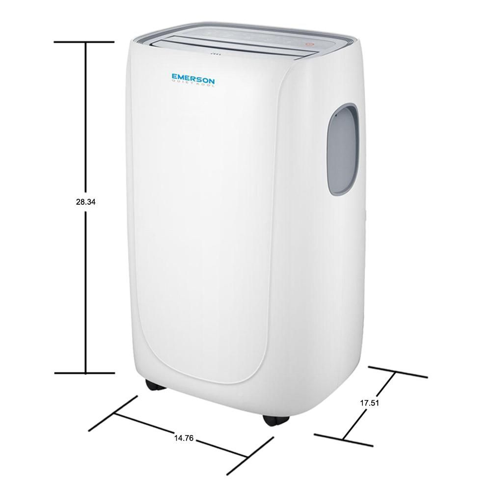 Emerson Quiet Kool 14 000 Btu Portable Air Conditioner With Dehumidifier And Remote Eapc14rd1 In 2020 Dehumidifiers Retro Fan Window Vents