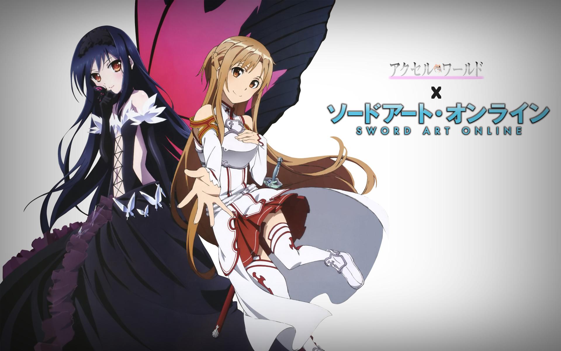 Anime Crossover Asuna Yuuki Kuroyukihime Accel World Sword Art
