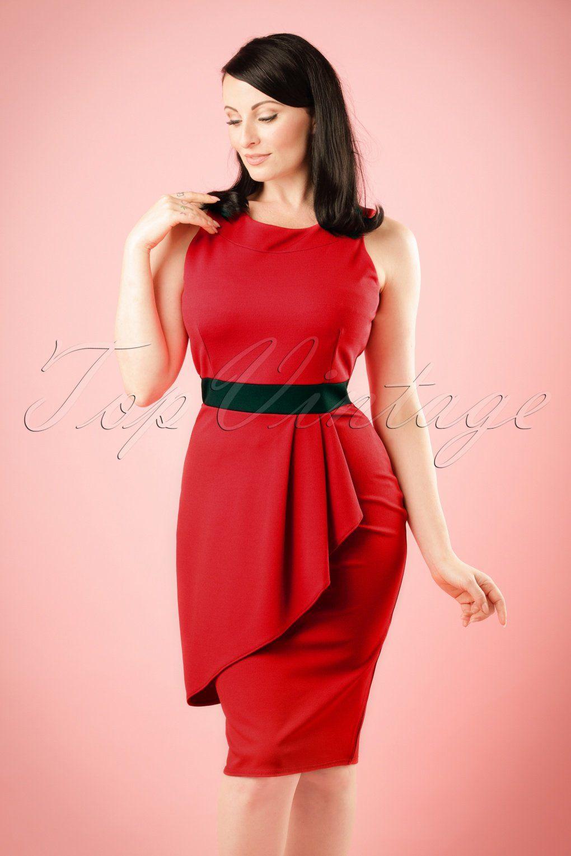 Iedere vrouw hoort een rood jurkje zoals deze s Vicky Pencil