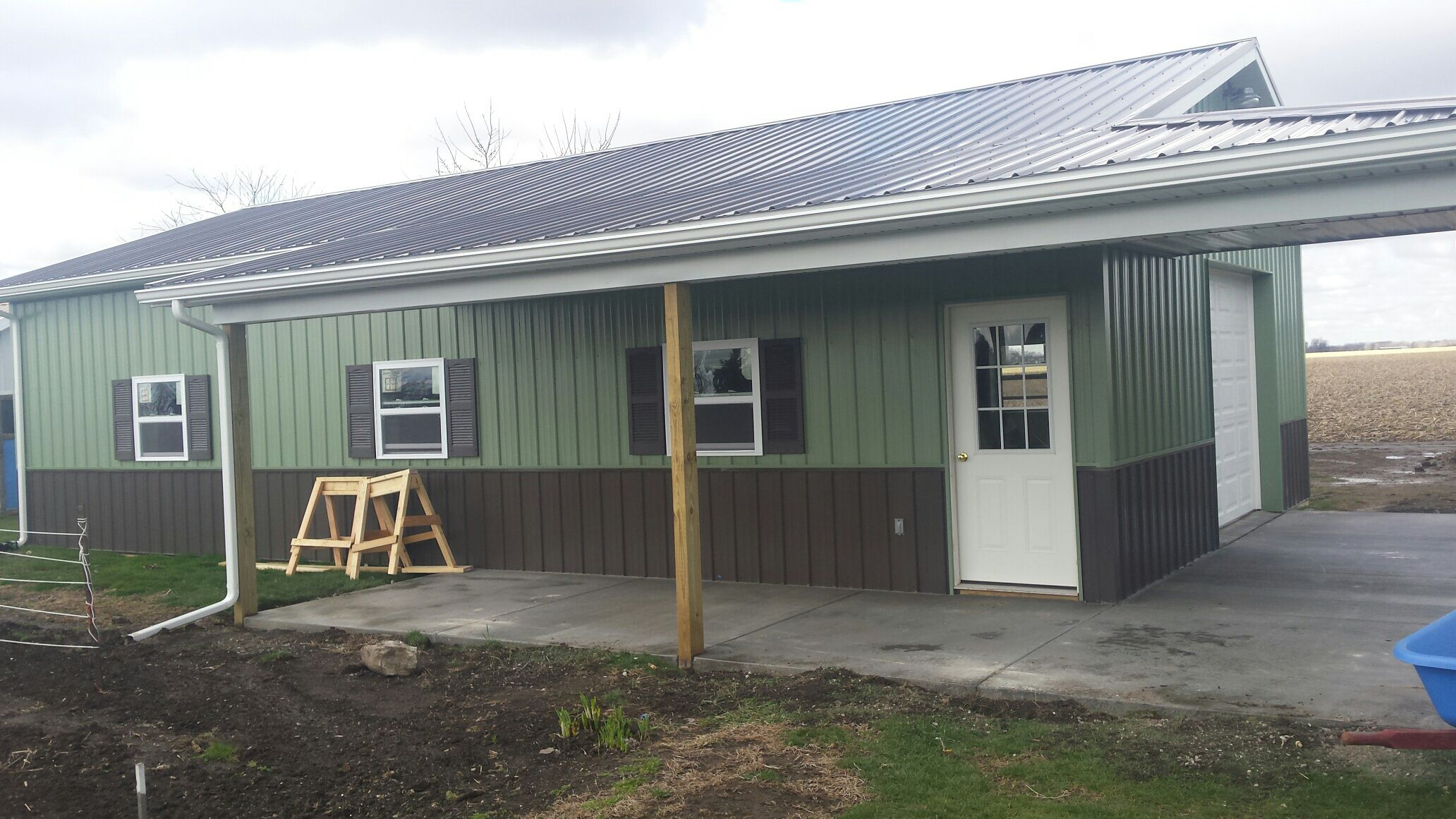 This post frame building was completed near Fremont, Ohio ...