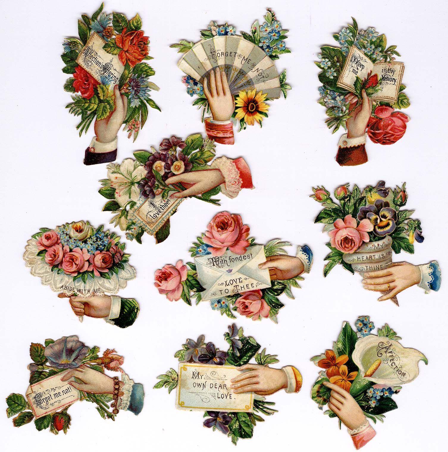 #victorian #scraps #floral #sentiments #love #chromograph #lithograph