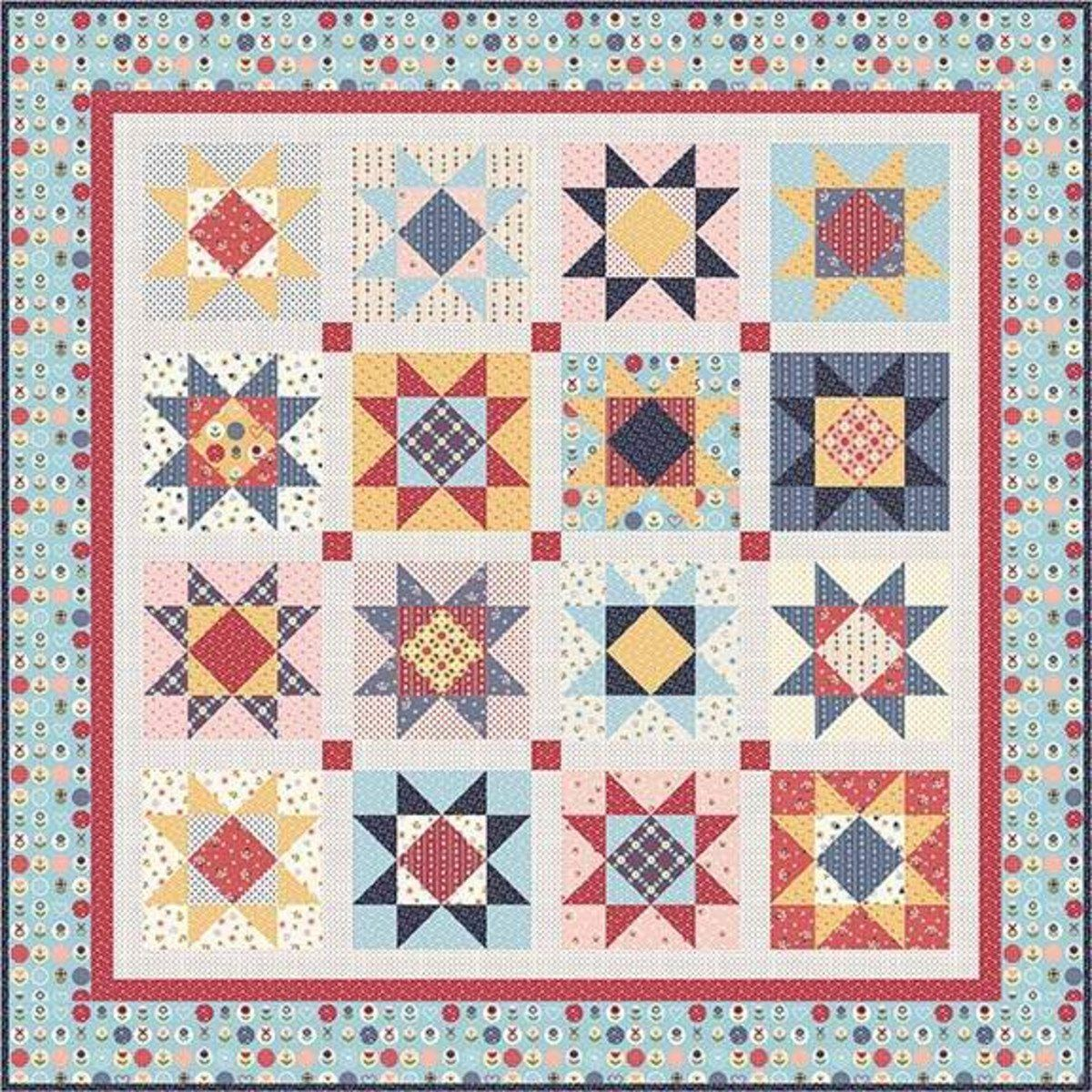 Gingham Girl Stars Quilt Pattern by Amy Smart