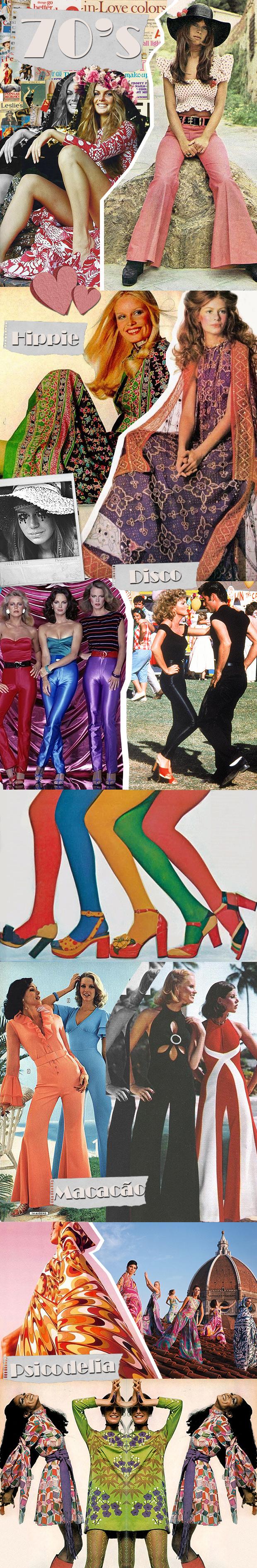 Modas dos anos 70!