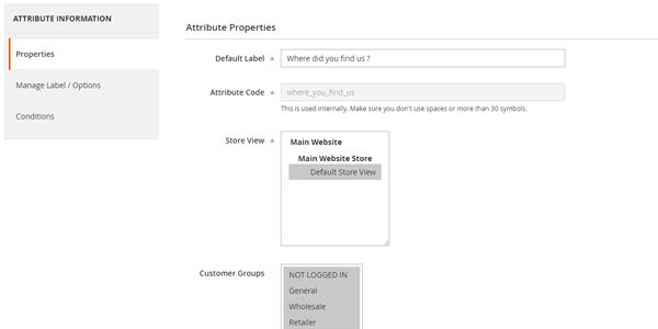 Order Attributes for Magento 2